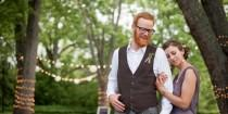 wedding photo - Grace + Nick's Offbeat Rustic Wedding