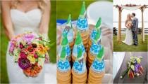 wedding photo - What's the latest wedding phenomenon? This colourful rustic wedding!
