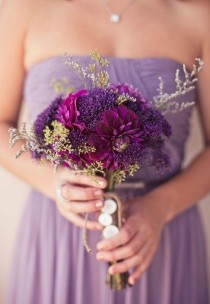 wedding photo - Purple Wedding Details & Decor