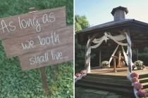wedding photo - BRIDE CHIC: THANKFUL AND TOM'S RUSTIC BARN WEDDING