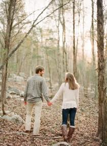 wedding photo - Rustic woodland engagement session