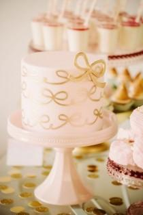 wedding photo - Bridal Showers In Pink And Gold