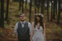 wedding photo - Anthropologie-Inspired Camp Wedding: Kristy + Kelly