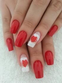 wedding photo - Valentine #nail #nails #nailart