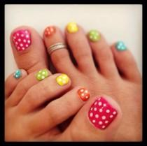 wedding photo - Cute Summer Toe Nails