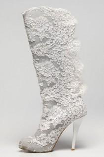 wedding photo - Sacred Fairy Design Lace Boot