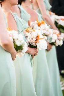 wedding photo - Bridesmaids In Mint Dresses
