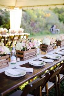 wedding photo - Country Rustic Wedding Centerpiece Ideas