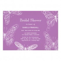 wedding photo - Radiant Orchid Butterfly Bridal Shower Invitation