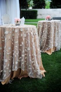 wedding photo - Belles superpositions linge de table