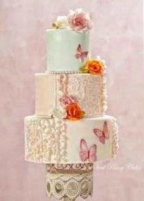 wedding photo - Shabby Chic Wedding Cakes