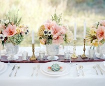 wedding photo - Прекрасный Tablescape