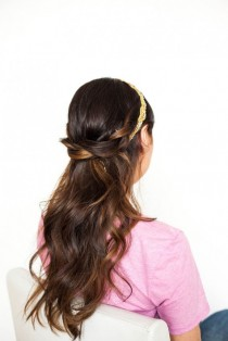 wedding photo - DIY Tutorial: Half Up, Half Down, Hidden Hair Braid