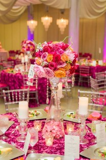 wedding photo - Bold And Beautiful Hot Pink Wedding.