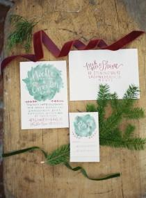 wedding photo - Rustic, Winter Inspired Invites