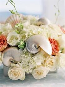 wedding photo - Flirty Türkis und Koralle Strand-Hochzeit
