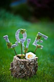 wedding photo - Country Wedding Centerpiece / Decor Idea