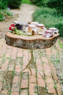wedding photo - Amazing Rustic Wedding Display Table
