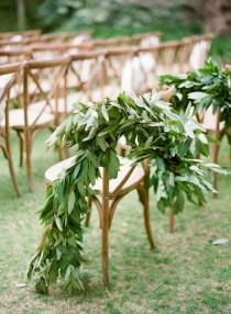 wedding photo - Chair Garland
