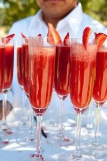 wedding photo - Fresh Strawberry Puree And Champagne.
