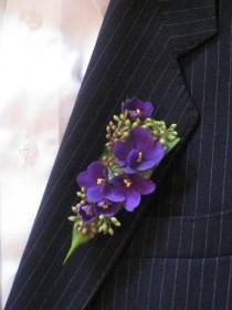 wedding photo - Violette africaine et ensemencées Eucalyptus