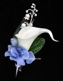 wedding photo - Calla Lily et bleu hortensia