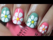 wedding photo - Spring Flower Nail Art
