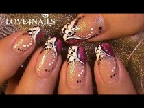 wedding photo - Fast & Easy How To Color Dragging Nail Art Design Tutorial