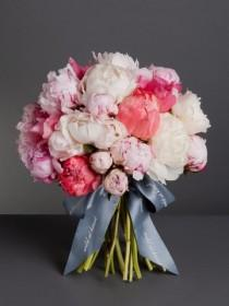wedding photo - Blush Peonies Bouquet