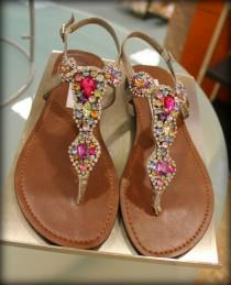 wedding photo - Sandalias plana Jeweled - Steve Madden