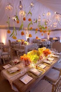 wedding photo - Blumen-und Kronleuchter Hochzeitszelt