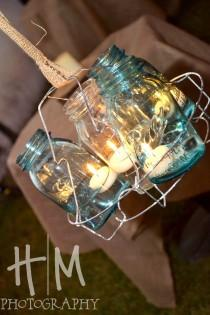wedding photo - Mason Jar Chandelier # wedding # südlichen