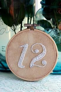 wedding photo - Пользовательский растительным Номер Таблицы Вышивка Обручи - Таблица № 1 - 15
