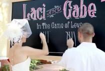 wedding photo - DIY Chalkboard As A Wedding Backdrop!