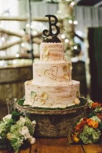 wedding photo - Rustic Cake