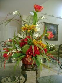 wedding photo - Silk Floral Arrangements