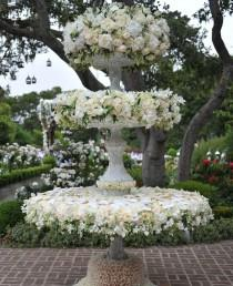 wedding photo - A Flower Covered Escort Card Display