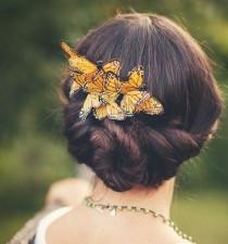 wedding photo - Бабочка Расческа, люкс для Волос, заколка Бабочка, Причудливые Свадебные Аксессуары, свадебные головной убор, Вудленд-Свадьба -
