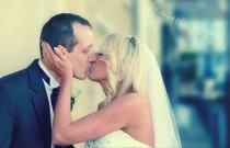 wedding photo - The Kiss.