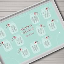 wedding photo - Гостиный Диаграмма Печати. Свадебная Тема Mason Jar. Таблица Диаграмма DIY.