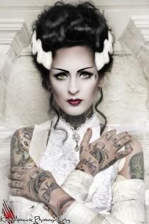 wedding photo - Bride Of Frankenstein Make-up