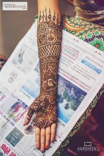 wedding photo - Hochzeits Henna, South Asian Braut, Mehendi