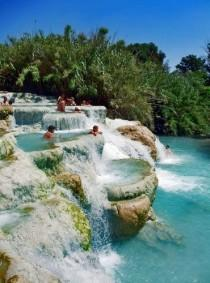 wedding photo - Mineral Baths In Tuscany, Italy