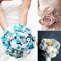 wedding photo - Bouquets de mariage Upcycled: Eco-Friendly mariée