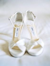 wedding photo - Weiß Jimmy Choo Sandalen