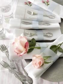 wedding photo - Rose In The Napkins