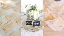 wedding photo - Unique Wedding Escort & Place Card Ideas