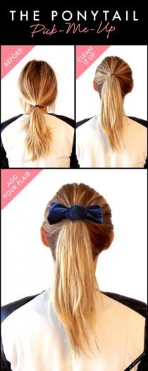 wedding photo - Tuesday Tutorial: The Ponytail Pick-Me-Up