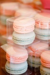 wedding photo - Macaron faveurs de mariage. Couleur mignon.