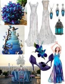 wedding photo - Blue Dendrobium Orchids